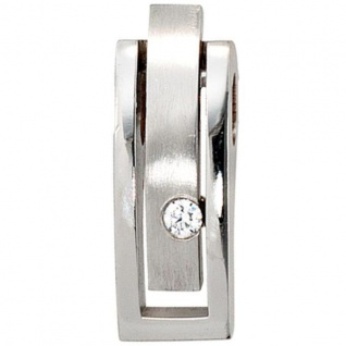 Anhänger 950 Platin mattiert 1 Diamant Brillant 0, 10 ct.