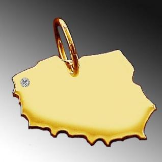 POLEN Kettenanhänger mit Brillant am Wunschort aus massiv 585 Gold