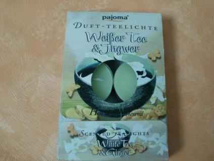 6 Duft-Teelichter weißer Tee und Ingwer