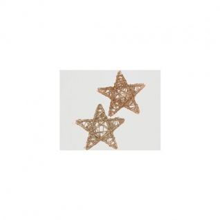 Rattan-Sterne im 2er Set Silber Gold Glitter 15 cm