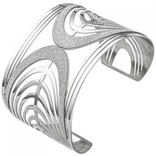 Armspange/offener Armreif aus Edelstahl mit Glitzereffekt breit