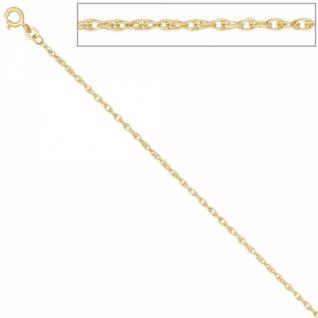 Doppelankerkette 333 Gelbgold 1, 9 mm 36 cm Halskette Kette Federring