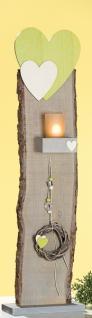 GILDE Deko-Ständer als Windlicht mit Herz, Dekoband und Kranz, 77, 5 cm