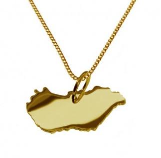 UNGARN Kettenanhänger aus massiv 585 Gelbgold mit Halskette