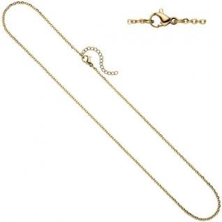 Halskette Edelstahl gelbgold farben beschichtet 1, 9 mm 47 cm Karabiner