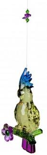 Fensterdeko Acryl-Hänger-Kakadu Acryl blau gelb lila 25 cm