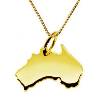 AUSTRALIEN Kettenanhänger aus massiv 585 Gelbgold mit Halskette