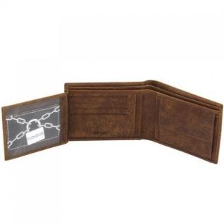 Geldbörse VINTAGE LINE Wasserbüffel Leder braun RFID Schutz - Vorschau 3