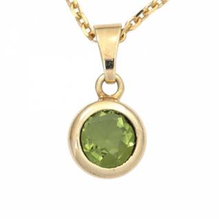 Anhänger 585 Gold Gelbgold 1 Peridot grün