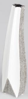 Deko Vase aus Keramik weiß silber magic, 40 cm