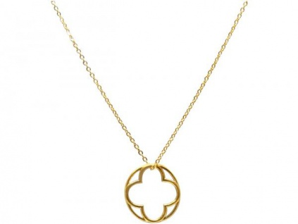 Halskette Anhänger 925 Silber Vergoldet Mandala Blumen des Lebens 2 cm