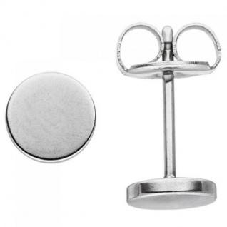 Ohrstecker Studs 6 mm aus Edelstahl Ohrringe