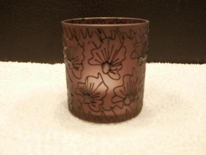 Votivglas in Blütenoptik ca. 8 cm hoch
