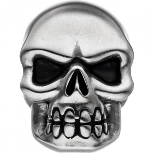 Anhänger Totenkopf Skull Edelstahl matt teil geschwärzt