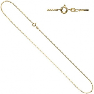 Venezianerkette 585 Gelbgold 1 mm 42 cm Gold Halskette Federring