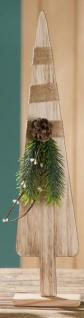 GILDE Deko Tannenbaum aus Holz mit Zapfen und Zweigen, 46 cm