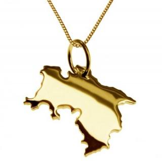 NIEDERSACHSEN Kettenanhänger aus massiv 585 Gelbgold mit Halskette