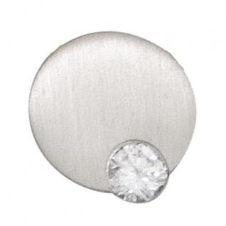 Anhänger 950 Platin mattiert 1 Diamant Brillant 0, 16ct.