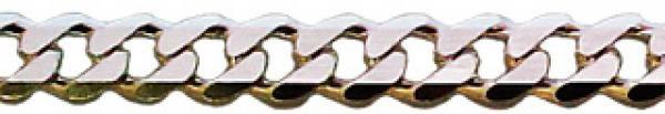 50 cm Panzerkette - 11, 4 mm - 925 Silber Halskette