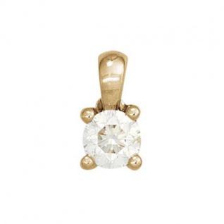 Anhänger 585 Gelbgold 1 Diamant Brillant 0, 10ct. Solitär