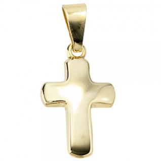 Anhänger Kreuz 333 Gelbgold Kreuzanhänger Goldkreuz