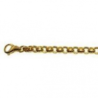 21 cm Erbskette Armband - 585 Gelbgold - 5 mm