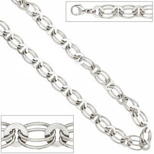 Armband 925 Sterling Silber rhodiniert 19 cm Karabiner 8, 7 mm breit