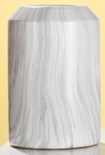 GILDE Vase Marble aus Keramik in Grau Weiß, 19 x 29 cm