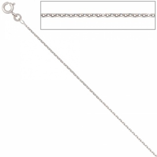 Ankerkette 333 Weißgold 1, 3 mm 45 cm Goldkette Halskette Federring