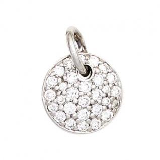Anhänger 585 Weißgold 29 Diamanten Brillanten 0, 34ct.