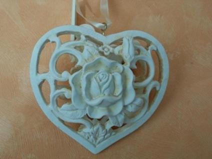 Hängedekoration Herz mit Rose
