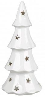 Windlicht Baum Kerzenhalter Teelichthalter weiß mit Stern 22 x 40 cm groß