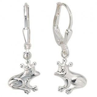 Kinder Boutons Frosch 925 Sterling Silber Ohrringe Ohrhänger