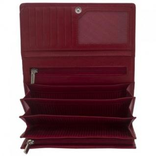 Friedrich Lederwaren Geldbörse MANDALA Nappa Leder rot RFID Schutz
