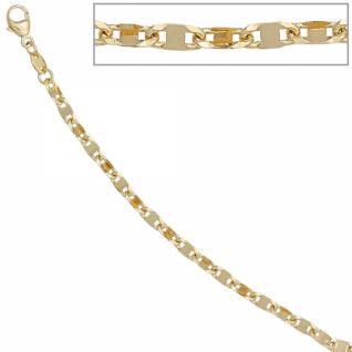 Armband 585 Gold Gelbgold 19 cm Karabiner