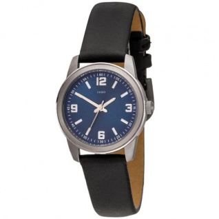 Damen Armbanduhr Quarz Analog Titan Lederband schwarz