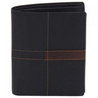 Friedrich Lederwaren Geldbörse Leder schwarz braun RFID Schutz 12, 5 cm - Vorschau 2