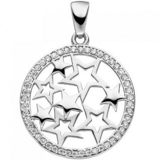 Anhänger Stern Sterne 925 Sterling Silber mit Zirkonia SternAnhänger