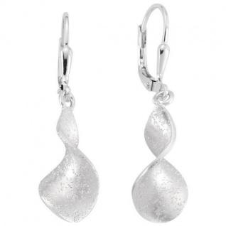 Ohrhänger 925 Sterling Silber matt Ohrringe Boutons Silberohrringe - Vorschau