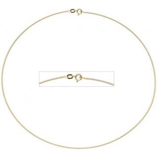 Halsreif 925 Sterling Silber gold vergoldet 1, 1 mm 42 cm Kette Halskette