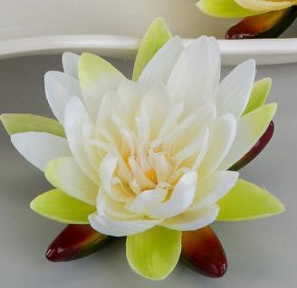 formano Kunstblume Schwimmrose in Weiß, 16 cm