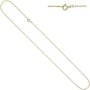Ankerkette 585 Gelbgold diamantiert 1, 6 mm 60 cm Halskette Federring