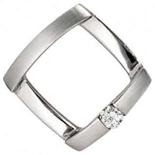 Anhänger 950 Platin mattiert 1 Diamant Brillant 0, 03ct. PlatinAnhänger