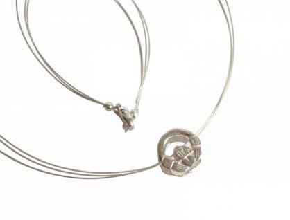 925 Silber Halskette mit Claddagh Anhänger