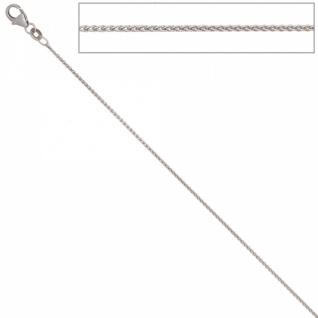 Zopfkette 333 Weißgold 1, 0 mm 45 cm Halskette Karabiner