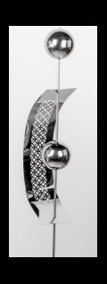 formano Deko Gartenstecker aus Edelstahl Bogen mit Kugeln, 160 cm