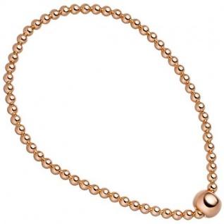 Armband 925 Sterling Silber rotgold vergoldet endlos elastisch