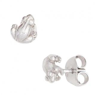 Kinder Ohrstecker Frosch 925 Sterling Silber rhodiniert Ohrringe Kinderohrringe