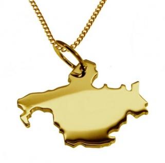 POTSDAM Kettenanhänger aus massiv 585 Gelbgold mit Halskette