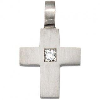 Anhänger Kreuz 950 Platin 1 Diamant 0, 06 ct. Kreuz Anhänger